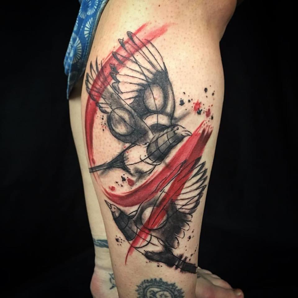 Beautiful bird tattoo