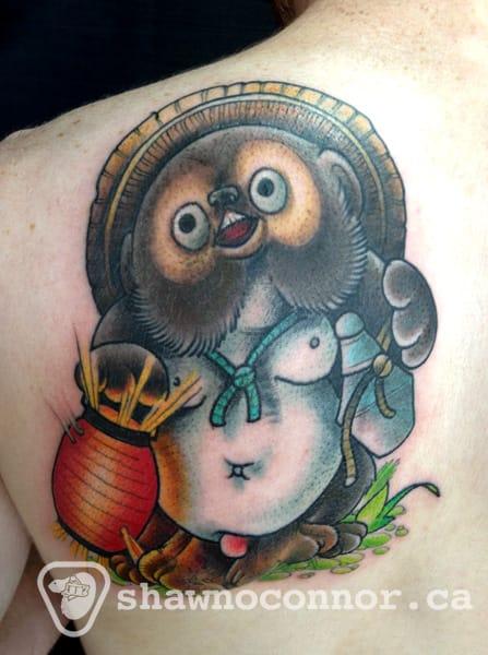 8 Cute Tanuki Tattoos