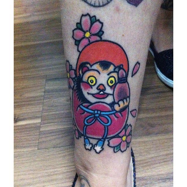 Tanuki Tattoo by Fuzina