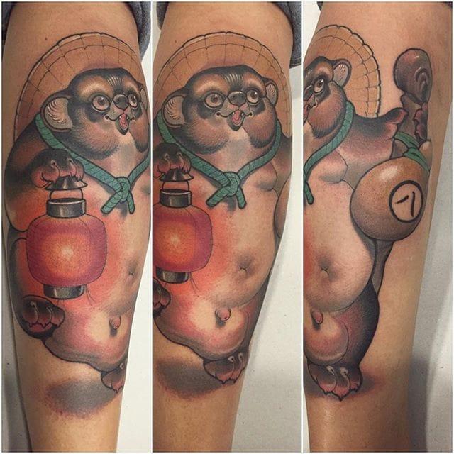 Tanuki Tattoo by Mimi Tattoo