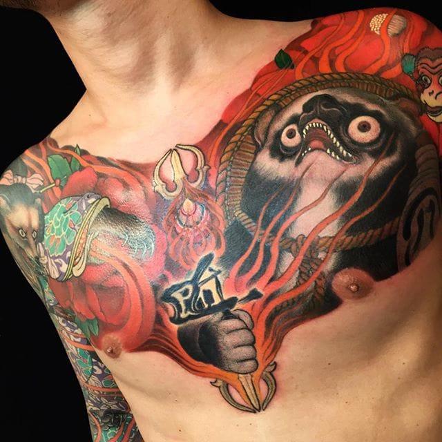 Tanuki Tattoo by Shige