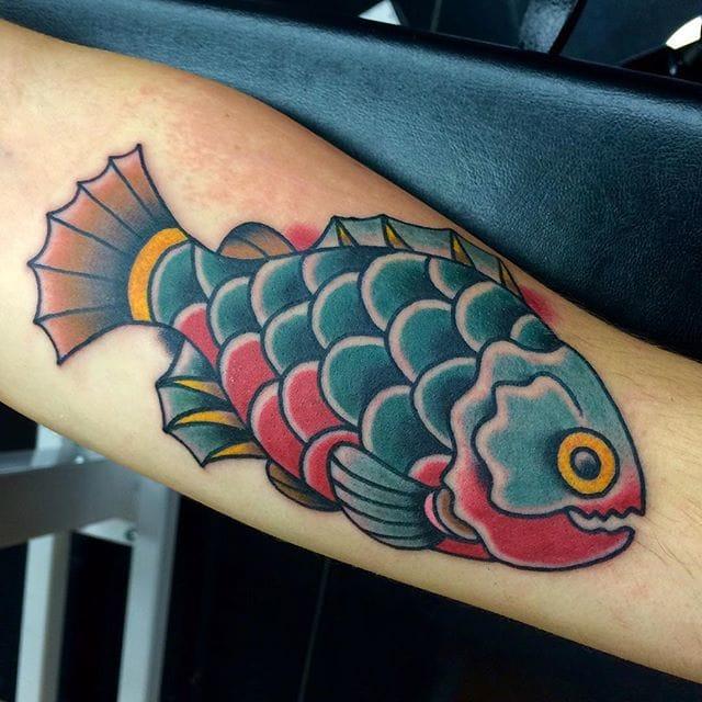 Piranha Tattoo by Vince Genois
