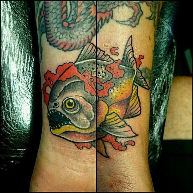 Piranha Tattoo by Trash Haus