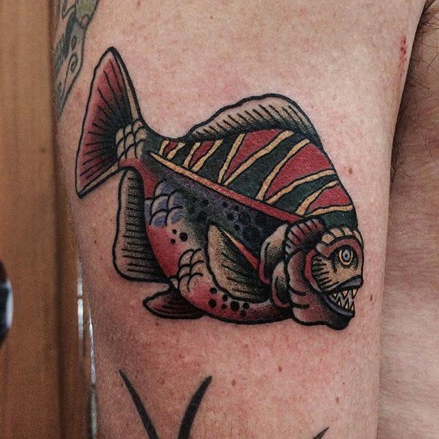Piranha Tattoo by Victor Gonzalez