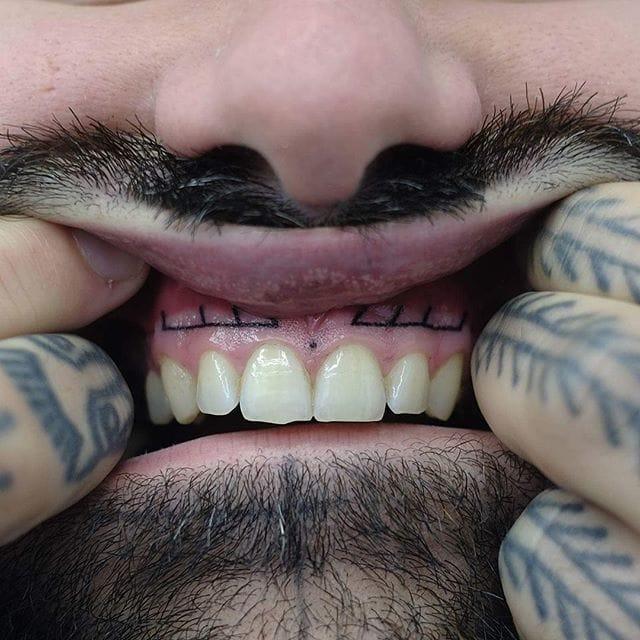 Minimalist gum tattoo