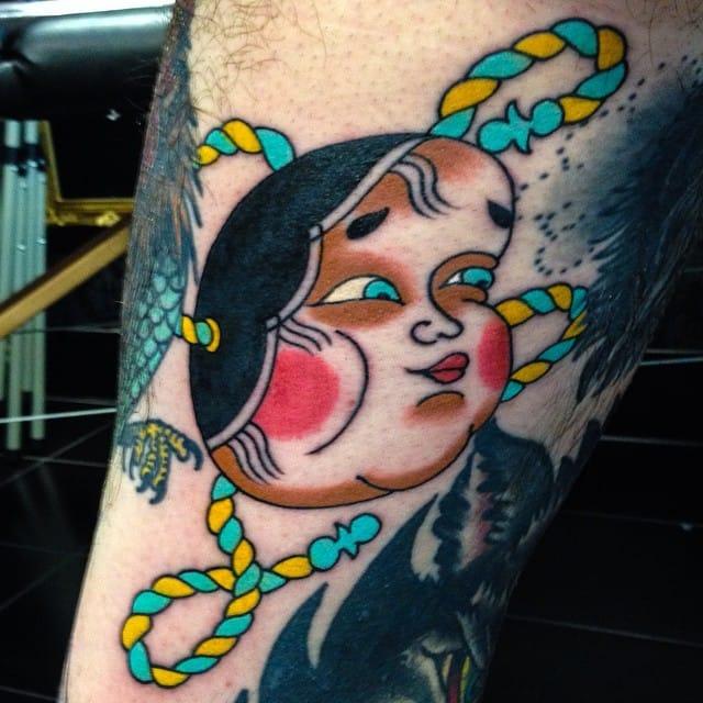 Okame Gap Filler Tattoo by Dave Watt
