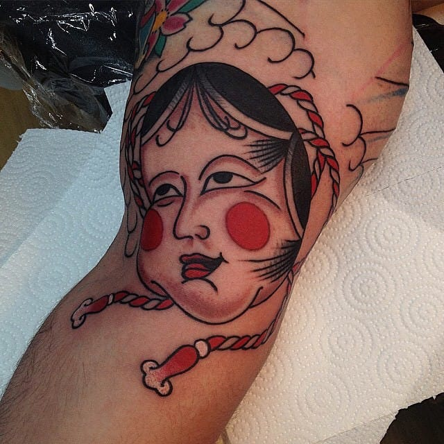 Okame Tattoo by David Diz Borrajo