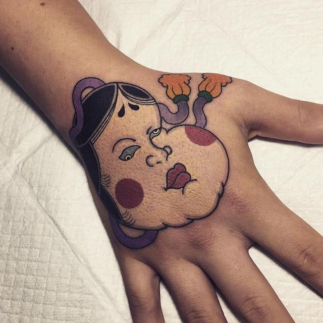 Okame Tattoo by Horikami