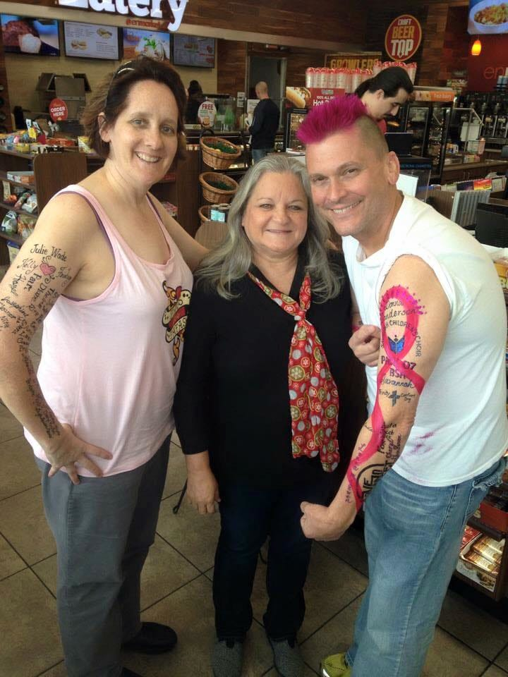 Host Tim Leary shows his first few tattoos on Facebook