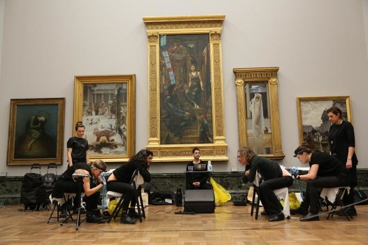 Tattoo Artists Take Over Tate Gallery for Climate Change Protest