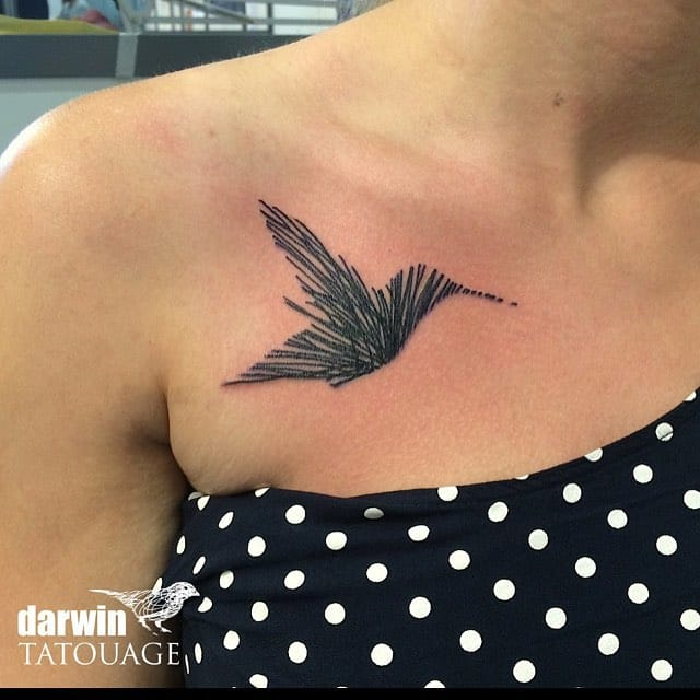 Hummingbird tattoo by Darwin Toucourt