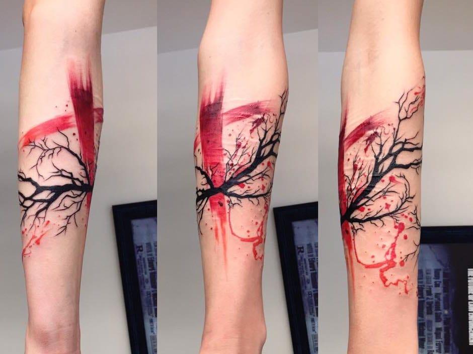Tree branch arm design.