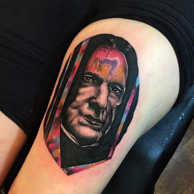 Severus Snape Tattoo by Andrew Marsh