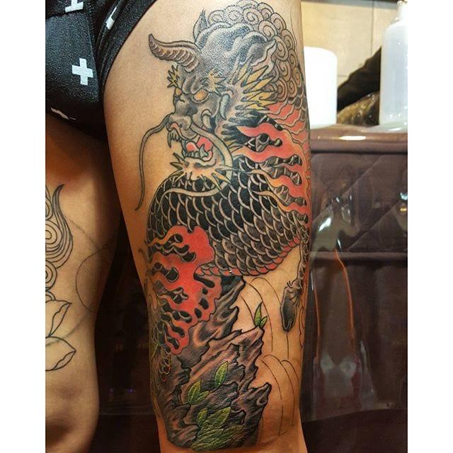 Kirin Tattoo by Black Flow Tattoo Studio