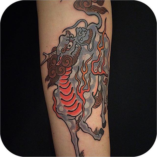 Kirin Tattoo by Mutsuo