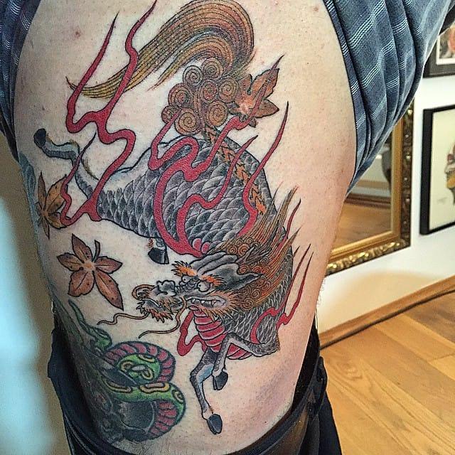 Kirin Tattoo by Sven Schinke