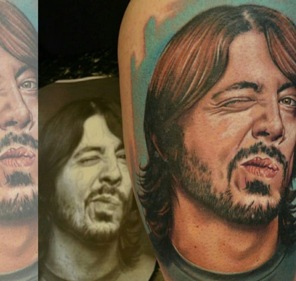 Dave Grohl portrait by the master of realism, Chris Jones.