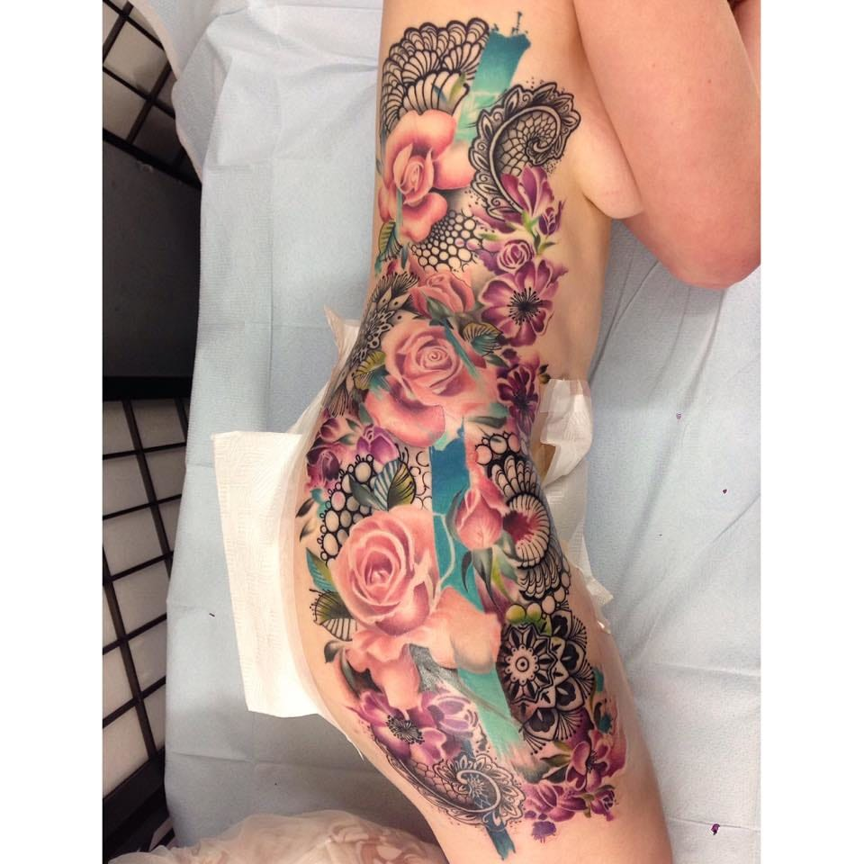 Epic side piece, with so much detail and color.