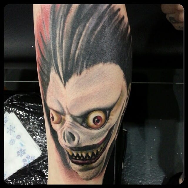 10 Chilling Death Note Tattoos of Ryuk The Shinigami