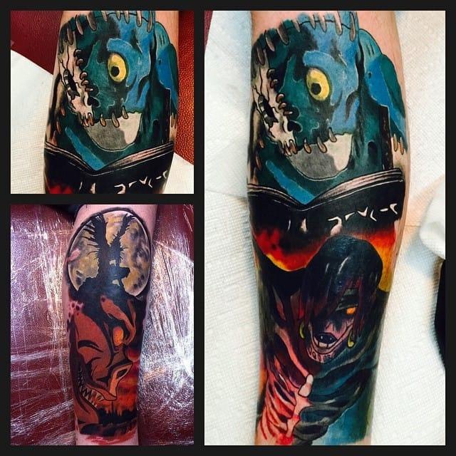 by Ink Done Right Tattoo #deathnote #RyukTheShinigami #animé
