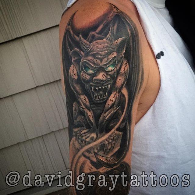Gargoyle Tattoo by Daivd Gray