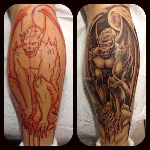 Gargoyle Tattoo by Edwin Shaffer