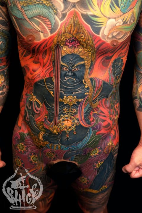 16 Fearsome Fudo Myo-o Tattoos
