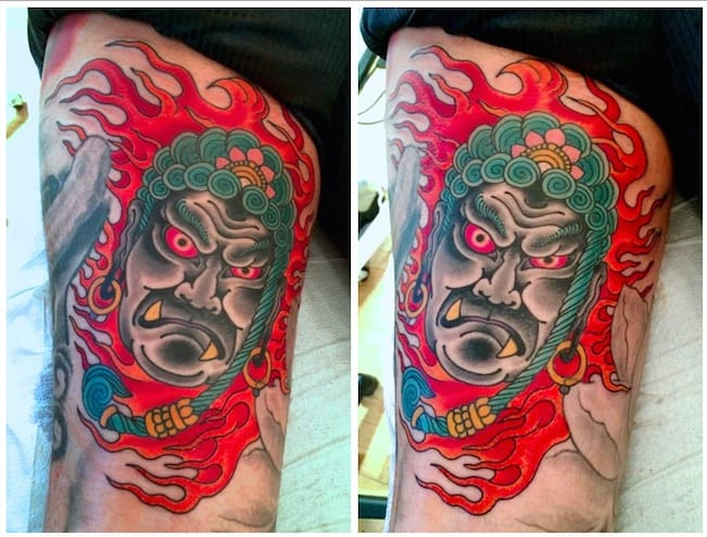 Fudo Tattoo by Chris O'Donnell