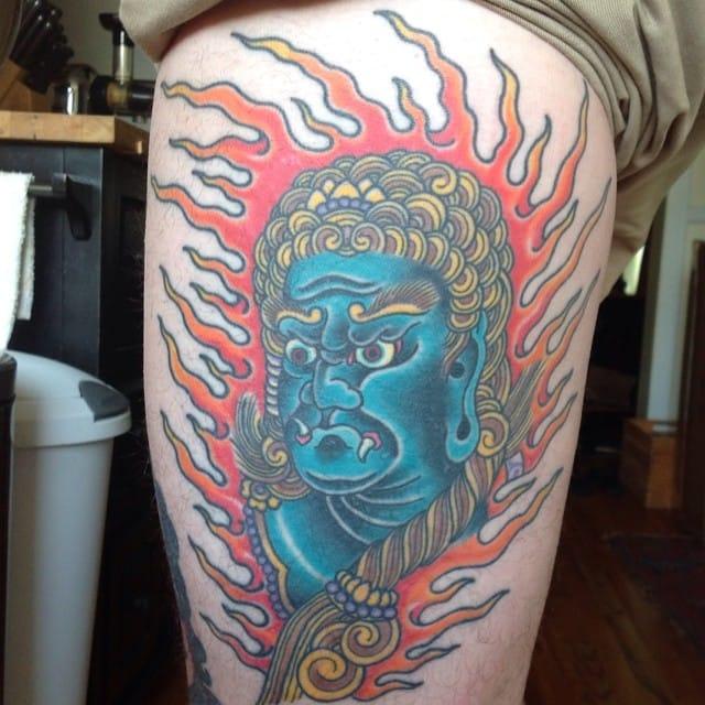 Fudo Tattoo by Jeb Maykut