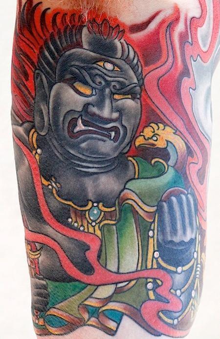 Fudo Tattoo by Tony Adamson
