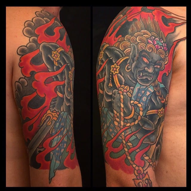 Fudo Tattoo by Vincent Penning