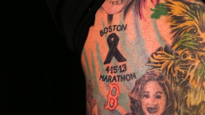 Boston Marathon Tattoo
