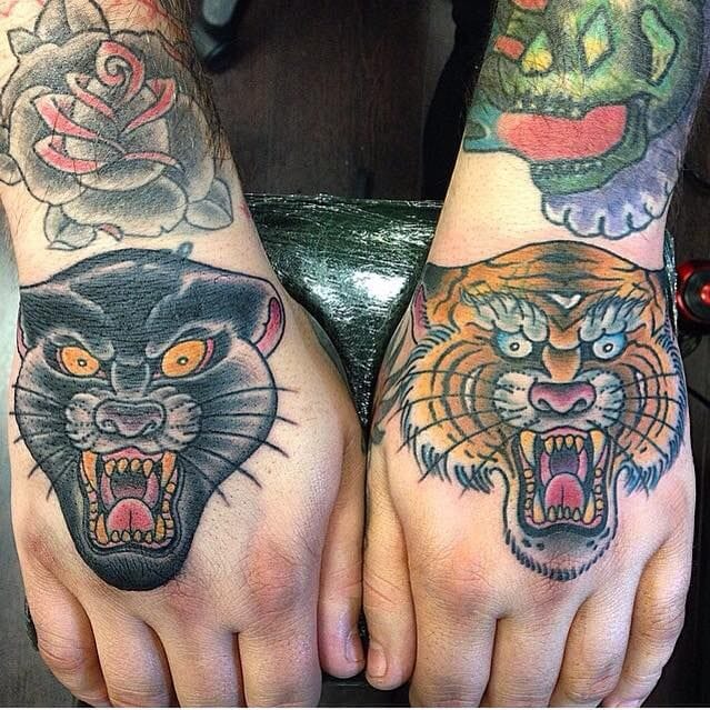 11 Epic Panther Tiger Tattoos
