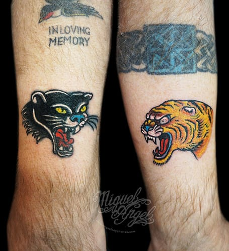Panther Tiger Tattoo by Miguel Angel