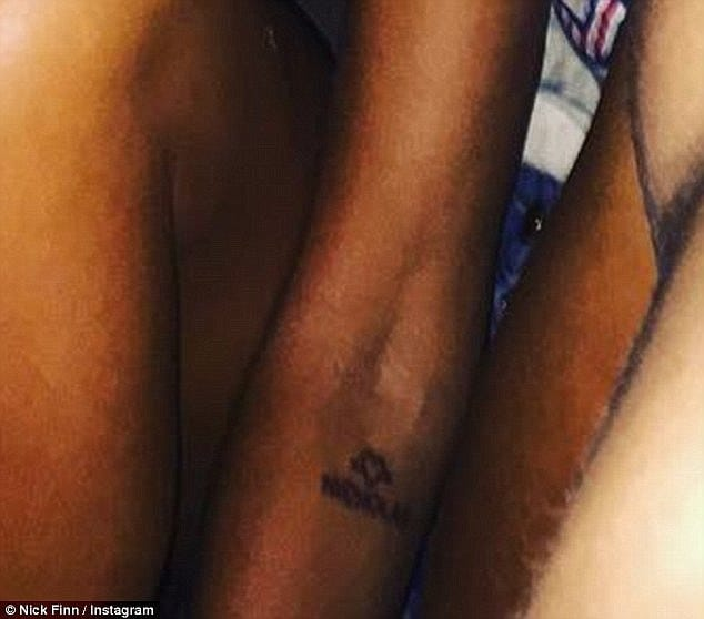 Close up on Jodhi's tattoo, via Instagram