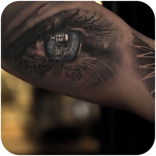 We get it. You guys really love these eye tattoos. Instagram @niki23gtr