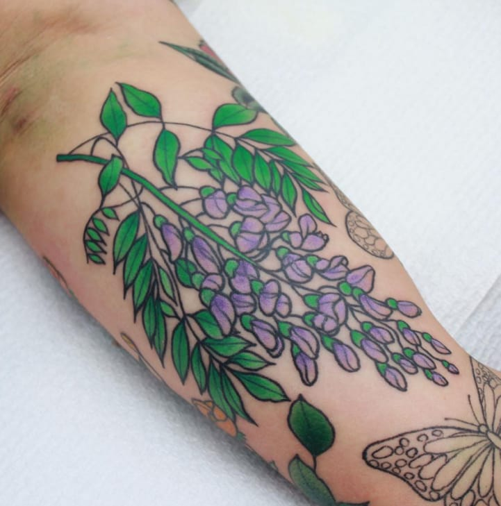 The Dainty Flower and Plant Tattoos of Sasha Mezoghlian