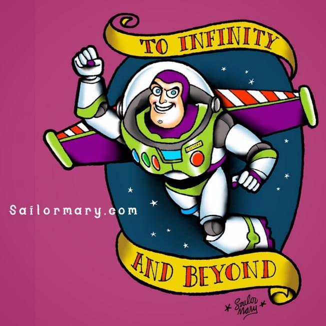 Buzz Lightyear from Toy Story.