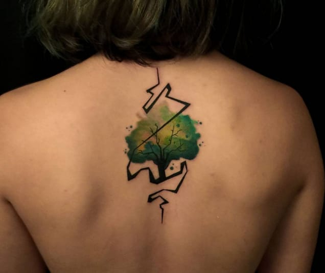 Watercolor Tattoos: Beauteous Trees