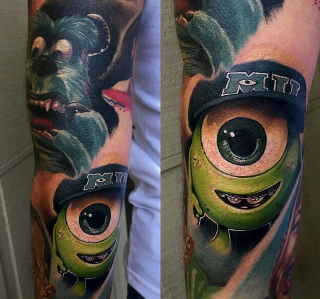 Mike and Sully realistic sleeve by Audie Fulfer Jr.