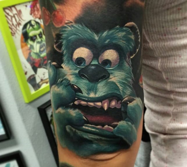 Sully tattoo by Audie Fulfer Jr.