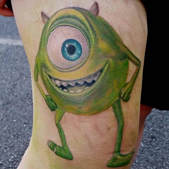 Disney Pixar tattoo by Paul Richards Tattoos / Monstat Paul.
