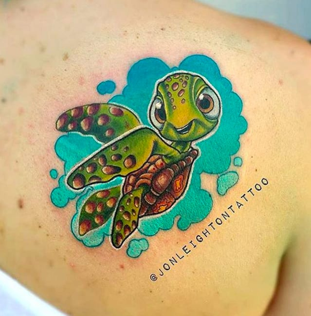 Cute Squirt the turtle by Jon Leighton.