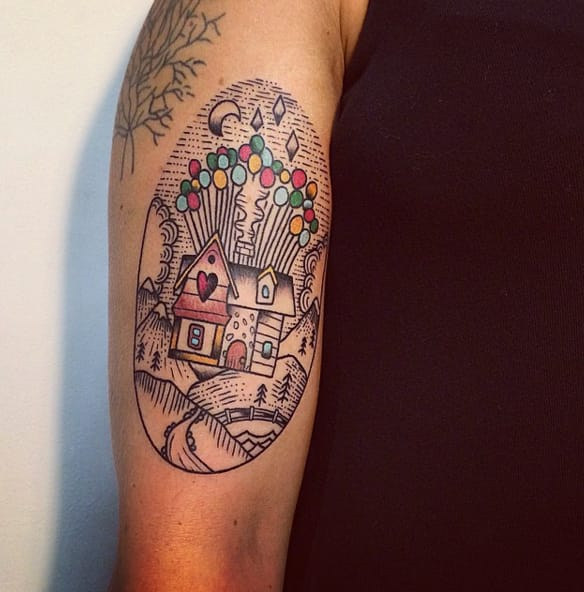 Adventure Is Out There:  Up Balloon House Tattoos
