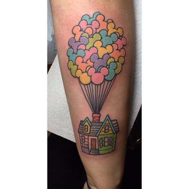 Perfect pastels in this tattoo by Alex Strangler.