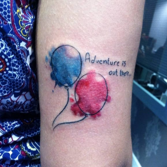 Adventure is out there... Tattoo by Instagram @creepytattoo.sevilla.