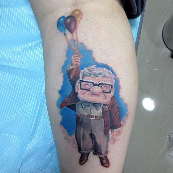 Carl tattoo by Hernan Rojas Art.