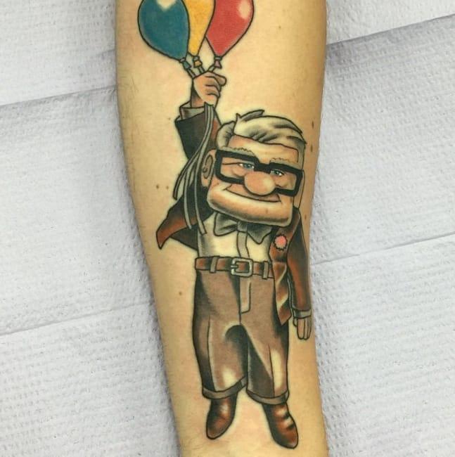 Carl tattoo by Instagram @idrawcartoonz104.