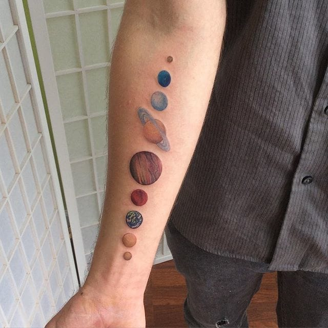 Tattoo by Ivy Lavelle #solar #solarsystem #space #planets