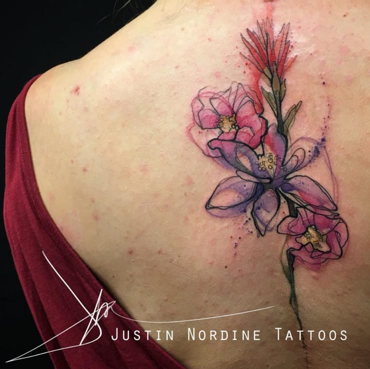 Beautiful detail in this tattoo by Justin Nordine.